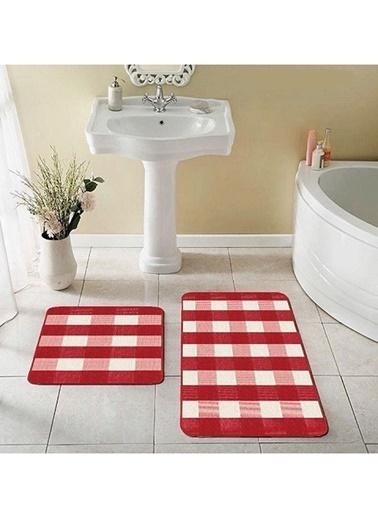 Prizma Banyo Paspası Kırmızı